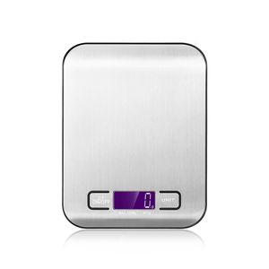 Theo&Cleo Küchenwaage mit LCD Display-wunderbare Präzision auf bis zu 1g (5kg Max) - Silbrig