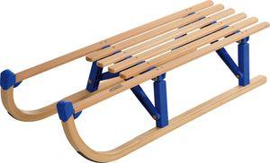 Holz Faltschlitten Colint 100cm Klappschlitten Holzschlitten Schlitten 75kg blau