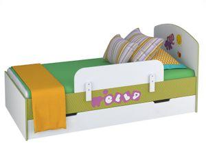 Polini Kids Jugendbett Kinderbett Basic Elly wei-grn, 1186-3