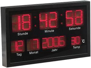 XXL multi LED Uhr mit Datum und Temperaturanzeige