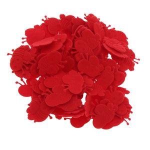 Süß Mini Biene Patch Applique Stickerei Deko für Kleidung Jeans Kappe und Schuhe rot 3,5 cm × 2,3 cm × 0,1 cm