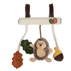 Bieco Kinderwagen Kette Design Igel | ca. 30x21 cm | Maxi Cosi Spielzeug, Mobile Babybett oder für Baby Laufgitter | Spielbogen Anhänger | Activity Spiel | Mobile Baby Spielzeug | Greifringe Baby