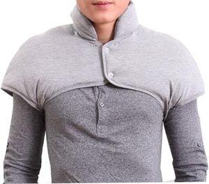 Hals- und Schulterwärmer für Männer mit abnehmbarem Halsband Natürliche Wärmetherapie - Grau