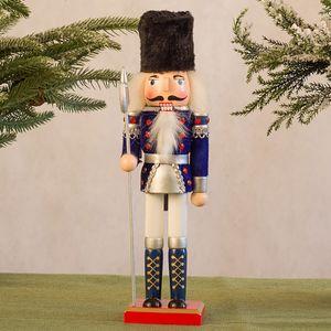 Nussknacker Soldat Marionette Weihnachten 30CM Weinkabinett Dekoration CZZ201013003BU