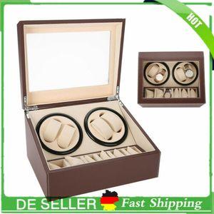 Automatisch Uhrenbeweger Uhrenbox Uhrenkoffer Vitrine Watchwinder für 4+6 Uhren-