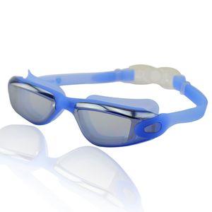"Schwimmbrille für Erwachsene inkl. Transportbox : UV-Schutz & Anti-Fog ""Orca"" AF-1600m / blau"
