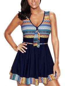 Damen Übergröße Badeanzug Zweiteilige Badebekleidung Beachwear Badeanzug PUSH UP Padded,Farbe:Blau,Größe:5XL