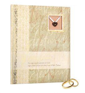 HENZO Hochzeits Gästebuch Destiny - 128 Seiten - Album - 26 x 20,5 cm - Gästealbum - Hochzeitsgäste - Hochzeitsalbum - Fotoalbum