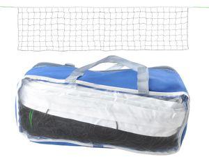 Volleyballnetz Badmintonnetz Tennisnetz + Tasche Beachvolleyball Netz 2851