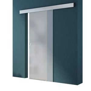 Mai & Mai Glasschiebetür Amalfi TS12-900SC vollflächig Satiniert inkl. Softclose-System, Griffart: Muschelgriff, BxH: 90x205cm