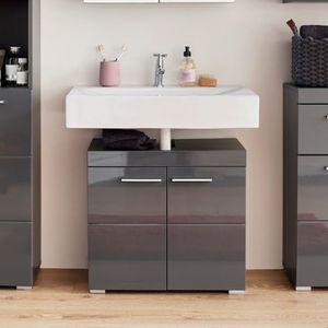 Waschbeckenunterschrank Waschtischunterschrank Badschrank Amanda Grau 60 cm