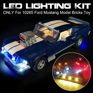 NUR LED-Beleuchtung Für 10265 Ford Mustang Modell Ziegel Toy USB Powered Lego Light Kit
