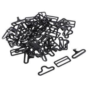 20 Sätze Krawattenhaken aus Metall Farbe Schwarz