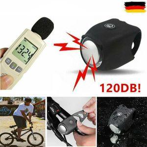 Fahrrad Elektrische Klingel 120dB Glocke Fahrradhorn Fahrradhupe Wasserdicht Schwarz