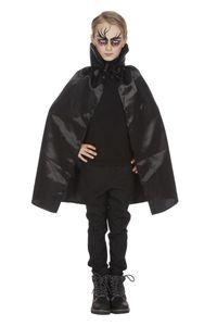 Kinder Kostüm Umhang mit Kragen Vampir Dracula Halloween schwarz