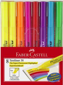 FABER-CASTELL Textmarker TEXTLINER 38 8er Etui