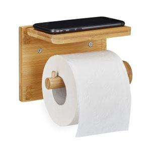 relaxdays Toilettenpapierhalter mit Ablage