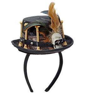 Halloween Voodoo Minihut auf Haarreifen
