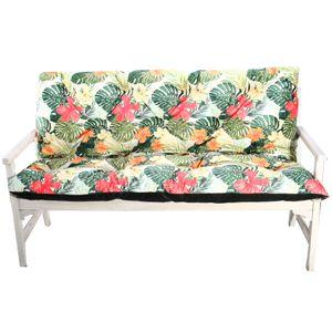 4L Textil Gartenbankauflage Bankauflage Bankkissen Sitzkissen Polsterauflage Sitzpolster (150x60x50,Grün)