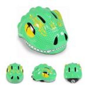 Byox Schutzhelm Y27 Dino Gr S 48 - 54 cm, einstellbar, 4 Löcher, LED-Beleuchtung, Farbe:grün