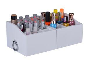 Aufbewahrungsbox Schmuckkasten für Make Up und Schmuck Kosmetik Organizer aus Holz