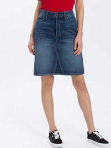 Cross Jeans Damen Rock B 590-011-ELLIE dark mid blue 32