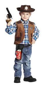 Kinder Kostüm Weste Cowboy Sheriffweste Karneval Fasching Gr.128