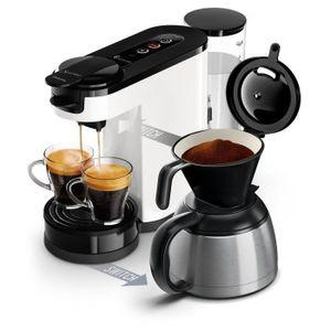 PHILIPS SENSEO Switch HD6592 / 01 Kaffeemaschine mit Kapsel oder Filter - Isotherme Kanne - 1 L - Weiß