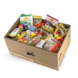 Süßigkeitenbox auf Mini-Palette , Leckere Süßwaren, Süßzeug aus aller Welt, Fruchtgummi, Retro Süßigkeiten Geschenkset, Süßwaren Set, Süße Naschereien, Geschenk für Frauen, Geschenk für Kinder