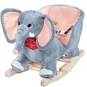 Schaukeltier Schaukelpferd Plüsch Schaukelspielzeug Wippe Kinder Baby Spielzeug, Tierart:Elefant