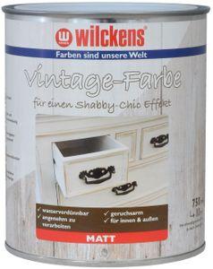 Wilckens 750 ml Vintage-Farbe, Weiß Matt, Shabby Chic Effekt, Landhaus, Vintage