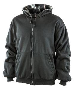 Albatros Fleece/Sweat-Wendejacke, 263920 schwarz grau-XL