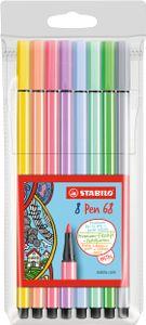 STABILO Fasermaler Pen 68 8er Kunststoff Etui