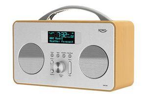 XORO DAB+ Radio DAB240, FM, 4W, LCD, Farbe: Silber/Holz