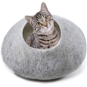 Katzenhöhle, Katzenbett, Kuschelhöhle, Filz - handgefertigt aus 100% Schafwolle