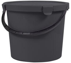 plast team Pflückeimer mit Deckel 10 Liter dunkelgrau