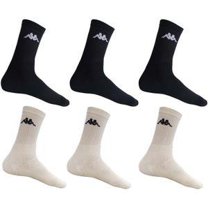 KAPPA - Sport- & Freizeit-Socken - 12er Pack (24 Stück) | Farbe: Schwarz | Größe: 43-46
