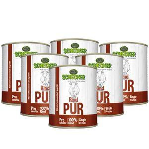 DOGREFORM Rind PUR 6 x 820g Nassfutter getreidefrei glutenfrei geeignet zum BARFen nur von eine Tierart in bester Qualität
