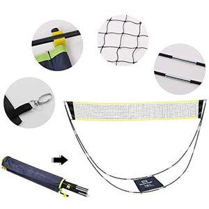 Tragbares Badminton-Netzset, Tragetasche mit Ständer, Volleyballnetz, kann für Outdoor- und Indoor-Strandsportarten verwendet werden