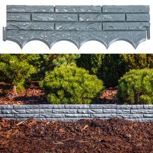 UPP Gartenmauer Steinoptik 5 Stück 290 cm Gesamtlänge