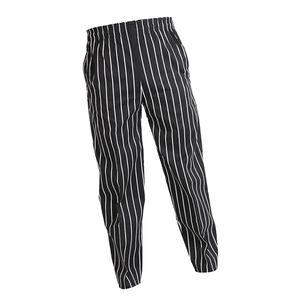 Elastische Restaurant Cafe Chef Kellner Hosen Hosen Uniform Accs Striped XL 10 wie beschrieben Gestreiftes XL