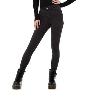 Ital-Design Damen Jeans High Waist Jeans Grau Gr.36