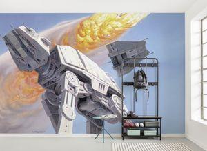 """Komar Vlies Fototapete """"Star Wars Classic RMQ Hoth Battle AT-AT"""" - Größe: 500 x 250 cm (Breite x Höhe), 10 Bahnen"""
