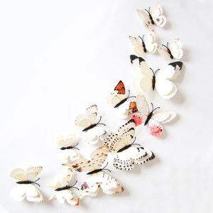 Oblique Unique 3D Schmetterlinge 12er Set Wandtattoo Wandsticker Wanddeko - weiß