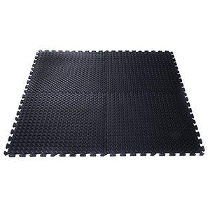 COSTWAY 12 Stueck Schutzmatten Set Bodenschutzmatte Puzzlematte Unterlegmatte Fitnessmatte Gymnastikmatte Matte fuer Bodenschutz