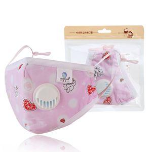 1PC Kinder Staubschutzmaske Atemschutzmaske Mundschutz mit 5 Stk.Filter Farbe: Pink