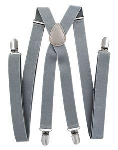 axy® Herren Hosenträger 2,5cm breite mit 4 Stabile Clips X-Form länge verstellbar Hochzeit-Business Outfit