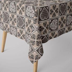 SCHÖNER LEBEN. Tischdecke Karo Herzchen grau verschiedene Größen, Tischdecken Größe:130x200cm