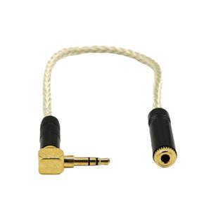 20cm Kurz Audio Klinkenkabel, Rechtwinklig 3,5 mm Stecker männlich auf 3,5mm Buchse weiblich