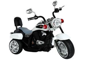 Kinder Motorrad Chopper FX Trike Weiß elektrisch Elektromotorrad ab 3 Jahren mit Licht und Sound